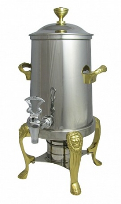 Bon Chef 48103 3.5-Gallon Coffee Urn Server, Solid Fuel, Lion
