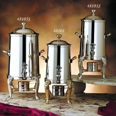 Bon Chef 48105 5.5-Gallon Coffee Urn Server, Solid Fuel, Lion