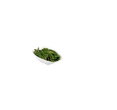 Bon Chef 53701WHITE Curved Rectangular Serving Bowl - White