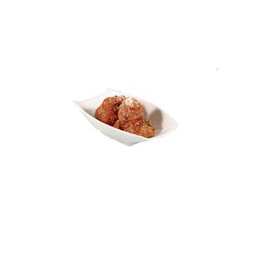 Bon Chef 53702WHITE Curved Rectangular Serving Bowl - White