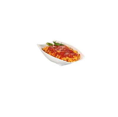 Bon Chef 53704WHITE Curved Rectangular Serving Bowl - White