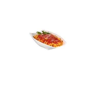 Bon Chef 53705WHITE Curved Rectangular Serving Bowl - White