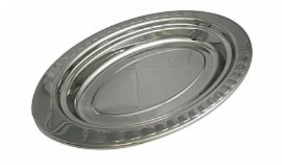 Bon Chef 5688HR 2.5-qt Full Oval Food Pan w/ Round Handle, Arches, Stainless