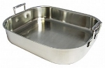 Bon Chef 60010CLD 10-qt Cucina Rotisserie Pan w/ Induction Bottom, Clad, Stainless