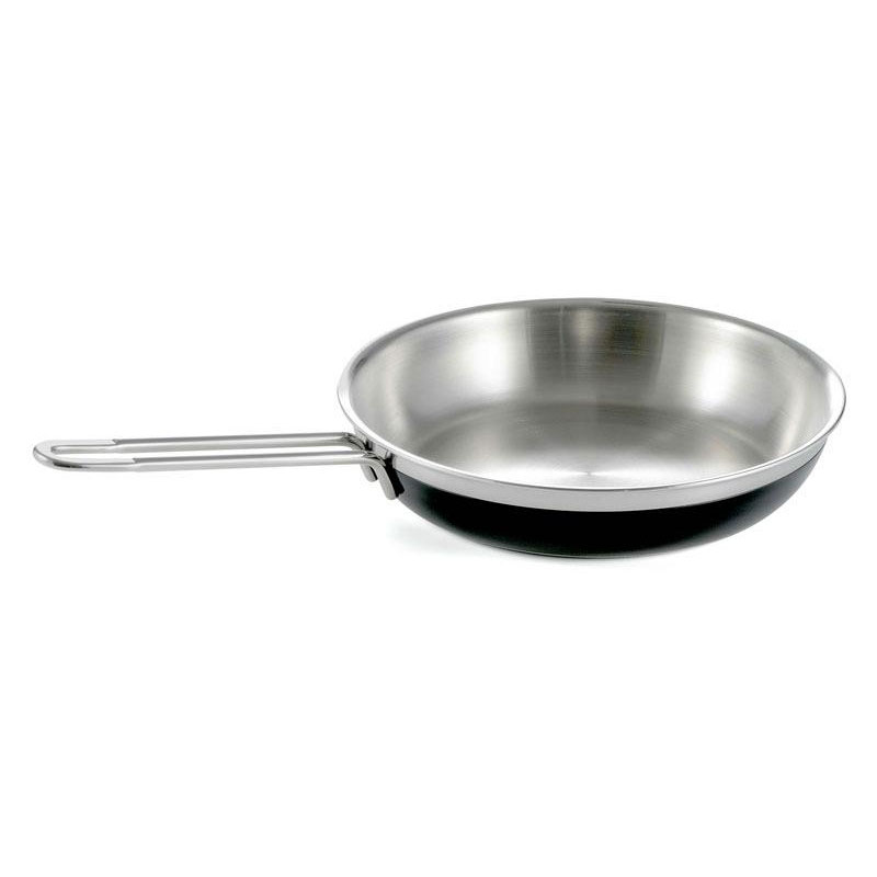 Bon Chef 60307 BLK 1.63-qt Enameled Tri-Ply Saute Pan/Skillet, Long Handle, Black