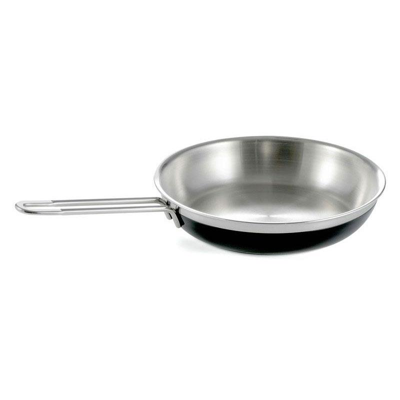 Bon Chef 60309 BLK 3.13-qt Enameled Tri-Ply Saute Pan/Skillet, Long Handle, Black