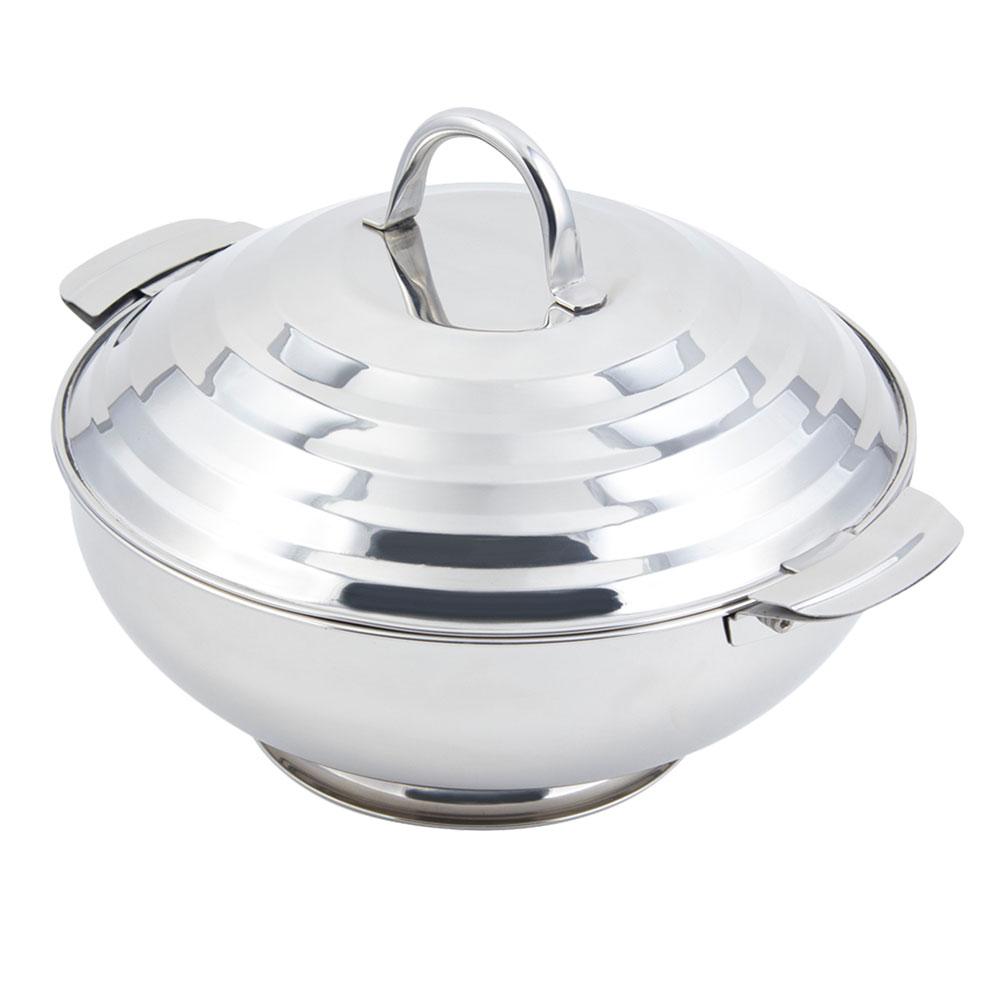 "Bon Chef 61208 11.6"" Round Insulated Hotpot Server w/ Locking Lid, Stainless"