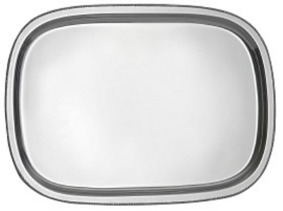 "Bon Chef 61350 15.75"" Bar Tray w/ Bead Rim, Stainless"