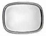 Bon Chef 61351 13.75-in Oblong Tray, Stainless Steel