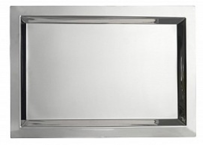 "Bon Chef 61365 13-1/8"" Square Tray, Stainless"