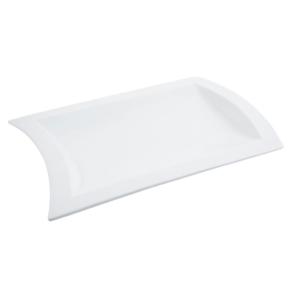 """Bon Chef 70030S Platter, 15.625"""" x 21.75"""", Aluminum/White"""