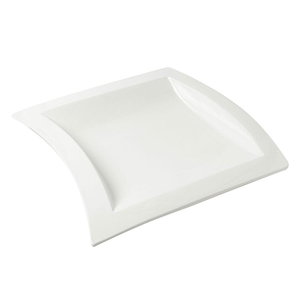 """Bon Chef 70033S Platter, 16.06"""" x 16.06"""", Aluminum/White"""