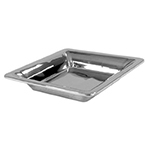 "Bon Chef 9322H 12"" Square Cold Wave Platter - Double Wall, Stainless"