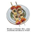 """Bon Chef 1003P 11"""" Traditional Dinner Plate, Aluminum/Pewter-Glo"""