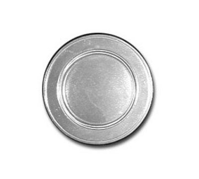 "Bon Chef 1021P 7.5"" Rimmed Salad Plate, Aluminum/Pewter-Glo"