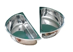 Bon Chef 12007 Half-Size Round Chafer Food Pan, Stainless Steel