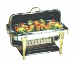 Bon Chef 12040 Full Size Chafer w/ Roll-top Lid & Chafing Fuel Heat