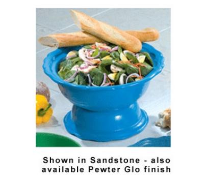 Bon Chef 150049059S BLK 2-Qt, Soup/ Salad Bowl Pedestal, Aluminum/ Black