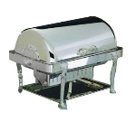 Bon Chef 17040S 2-Gallon Rectangular Roll Down Dripless Chafer, Silver