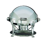 Bon Chef 18000S 2-Gallon Round Roll Down Chafer w/ Silver Plate
