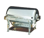 Bon Chef 18040S Full Size Chafer w/ Roll-top Lid & Chafing Fuel Heat