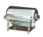 Bon Chef 18040S 2-Gallon Rectangular Roll Down Chafer, Silver, Lion