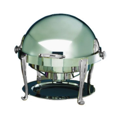 Bon Chef 19000CH 2-Gallon Round Roll Down Chafer, Stainless w/ Chrome, Roman