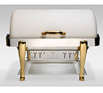 Bon Chef 19040-BIANCO Full Size Chafer w/ Roll-top Lid & Chafing Fuel Heat