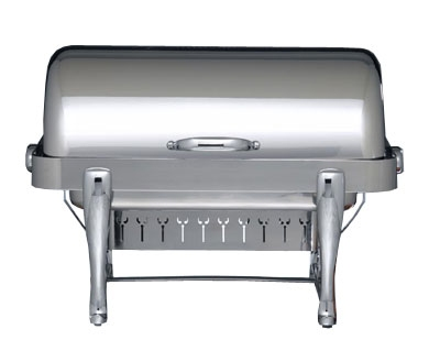 Bon Chef 19140CH 2-Gallon Rectangular Chafer w/ Chrome Trim