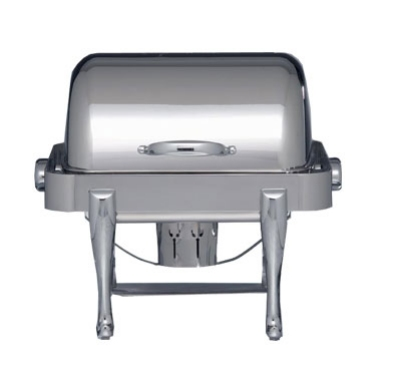 Bon Chef 19150CH Half Size Chafer w/ Roll-top Lid & Chafing Fuel Heat