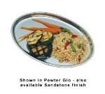 Bon Chef 2003P Oval Serving Platter, 7.75 x 11-in, Aluminum/Pewter-Glo