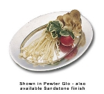 Bon Chef 2009S WH Baked Potato Platter, 4.5 x 6.5-in, Aluminum/White