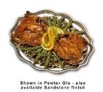 "Bon Chef 2022P Oval Platter, 9.5 x 12"", Aluminum/Pewter-Glo"