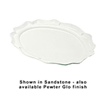 "Bon Chef 2029P Oval Platter, 16.75 x 22"", Aluminum/Pewter-Glo"
