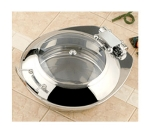 Bon Chef 20300 Round Chafer w/ Hinged Lid & Induction Heat