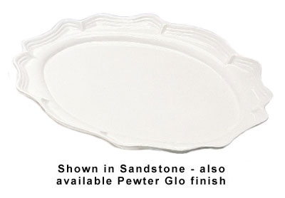 "Bon Chef 2031P Oval Platter, 19.75 x 30"", Aluminum/Pewter-Glo"