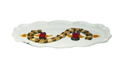 "Bon Chef 2032P Oval Platter, 26.75 x 48"", Aluminum/Pewter-Glo"