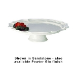 Bon Chef 20361P 16-in Round Pedestal Tray, Aluminum/Pewter-Glo