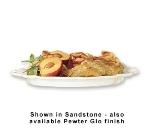 "Bon Chef 2036P 16"" Round Platter, Aluminum/Pewter-Glo"