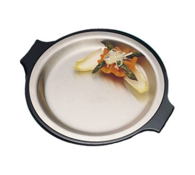 "Bon Chef 2042P 10.25"" Round Stainless Steel Platter, w/ Pewter-Glo"