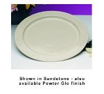 "Bon Chef 2048P 16"" Round Serving Tray, Aluminum/Pewter-Glo"
