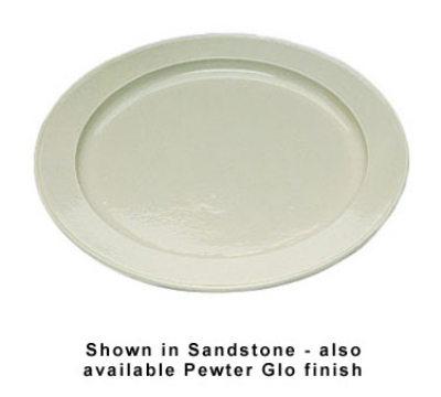 "Bon Chef 2049S WH 18"" Round Serving Tray, Aluminum/White"