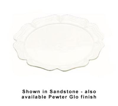 """Bon Chef 2061S WH 18"""" Round Platter, Aluminum/White"""