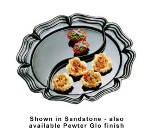 "Bon Chef 2062DS WH 20"" Round Divided Platter, Aluminum/White"