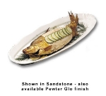 "Bon Chef 2063P Shell Fish Platter, 9 x 28"", Aluminum/Pewter-Glo"