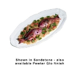 "Bon Chef 2066P 36"" Shell Handled Fish Platter, Aluminum/Pewter-Glo"