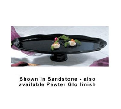 """Bon Chef 20669106S WH Pedestal Shell Fish Platter, 14.25 x 36"""", Aluminum/White"""
