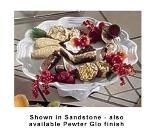 "Bon Chef 20679058P 13"" Pedestal Platter, Aluminum/Pewter-Glo"