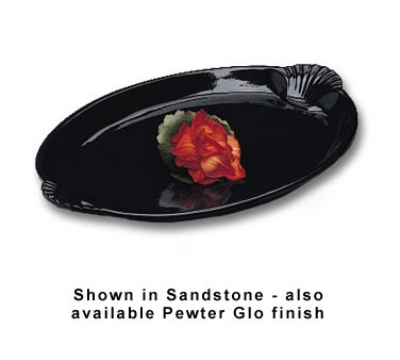 "Bon Chef 2074P 22.5"" Shell Handle Platter, Aluminum/Pewter-Glo"