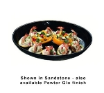 "Bon Chef 2076P 15"" Oval Coupe Platter, Aluminum/Pewter-Glo"